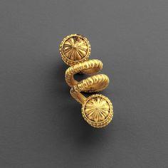 Greek Gold Spiral                                                                                                                                                        Culture :                  Greek, East Greek                                              Period : 7th–6th century B.C.                                          Material : Gold