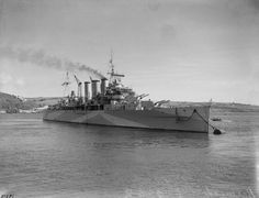 """HMS BERWICK (65) 1926, was a County-class heavy cruiser of the British Royal Navy, part of the Kent subclass. When World War II started, she served on ocean convoy escort duties, then formed part of Force """"F"""" when hunting groups were formed to find the German raiders. She did not make contact with any raider, but intercepted the mercantile blockade runners Wolfsburg and Uruguay in the Denmark Straits during March 1940."""