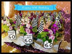 60th birthday car theme | Autumn English AE Commission: Race Car Florals! - Autumn English