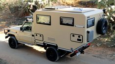 Toyota Land Cruiser 70 Series with Uro-Camper 4x4 Trucks, Truck Flatbeds, Off Road Camping, Truck Camping, Toyota Hilux, Toyota Tundra, Vw Bus, Toyota Camper, Hilux Camper