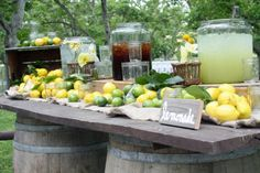 #tea station #bar a the #drink station #bar a limonades #wedding #mariage