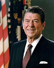 Ronald Wilson Reagan (February 6, 1911 – June 5, 2004) was the 40th President of the United States, serving from 1981 to 1989. Prior to that, he was the 33rd Governor of California from 1967 to 1975 and a radio, film and television actor.