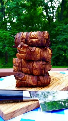 Bacon Wrapped Grilled Cheese, cooked on a smoker. Basically, the most amazing…