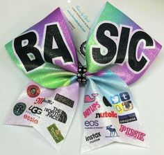 Bows by April - BASIC White Glitter Cheer Bow, $18.00 (http://www.bowsbyapril.com/basic-white-glitter-cheer-bow/)