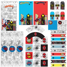Spiderman Party Printable