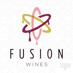 Exclusive Customizable Logo For Sale: FUSION ATOMIC WINES | StockLogos.com