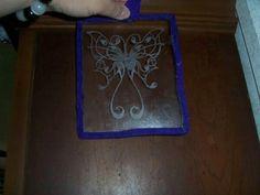 Engraved glass suncatcher
