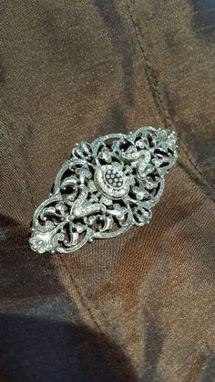 Sterling silver vintage brooch