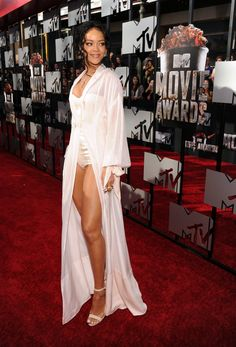 Pin for Later: Hollywood Hits the MTV Movie Awards Red Carpet Rihanna