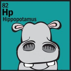 The Animal Table Wild Thing of the Week is the Hippopotamus… Periodic Table Of The Elements, Animal Faces, Hippopotamus, Wild Ones, Animal Kingdom, Dog Cat, Drawings, Cats, Animals