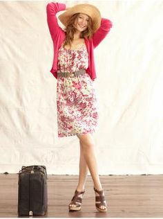 Wish I could look good in hats! My fave color is pink, and sun dresses like this are essential during spring/summer.