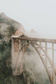 Seeing the Bixby Bridge was a highlight last week. It is a sight, I would love to see it in the mist.