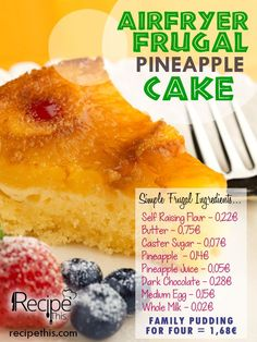 Frugal Family Meals: Airfryer Frugal Pineapple Cake