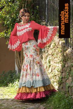 Colección 2018 | Manuela Macías Moda Flamenca Bohemian Gypsy, Boho, Flamenco Costume, Fashion Art, Womens Fashion, Costumes, Skirts, Inspiration, Clothes