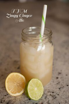 """Link to a collection of my favorite THM Fuel Pull drinks including """"Sonic-Style Strawberry Limeade"""", """"Zingy Ginger Ale"""" and a """"Dark Chocolate Shake"""" as well as a tutorial on how to make fresh ginger juice concentrate."""