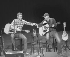 Dierks Bentley Photos Photos - This image has been converted to black and white) Dierks Bentley and John Randall Stewart perform during The Country Music Hall of Fame and Museum Presents an Interview and Acoustic Performance With Dierks Bentley and friends at the CMA Theater at the Country Music Hall of Fame and Museum on March 12, 2016 in Nashville, Tennessee. - The Country Music Hall of Fame and Museum Presents an Interview and Acoustic Performance with Dierks Bentley
