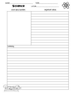 microsoft word note taking template