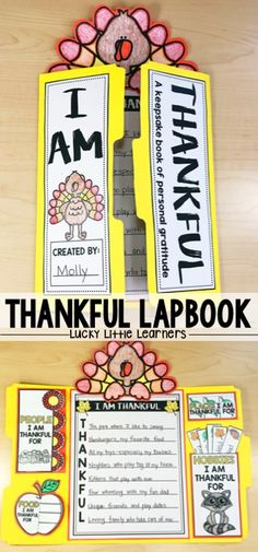 I Am Thankful Lapbooks are a great way to focus on gratitude and thankfulness with your students during the month of November.