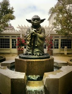 Yoda fountain this is, hmmm?  At the Lucasfilm Headquarters in the Presidio (SAN FRANCISCO) I must be...
