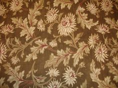 Antique French Floral Fabric 1910  by WondersOfThePast on Etsy, $69.35