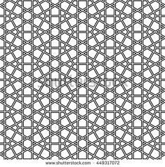 Islamic geometric art, arabic pattern, hexagons background