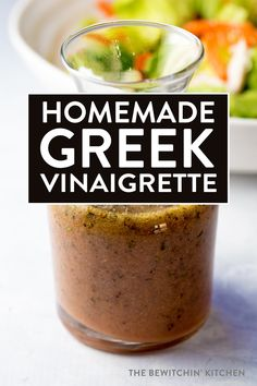 Homemade Greek Vinaigrette. This homemade salad dressing is THE MOST POPULAR recipe on this website. A clean eating recipe favorite!