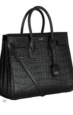 Saint Laurent ~ Black Leather Shoulder Bag | @andwhatelse