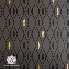 Our Elsebet Trellis stencil is inspired by the lovely geometric tribal patterns of Africa, but it is equally at home in contemporary or Mid-Century modern interiors.