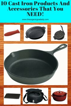 Do you use cast iron cookware? Check out the 10 Cast Iron Products and Accessories That You Need to Have in Your Kitchen! I am in love with...