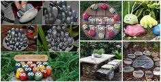 Çakıl Taşları ve taşlar ile 20+ Muhteşem DIY Bahçe Dekorasyon Fikirleri