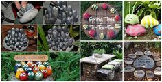 20+ Fabulous DIY Garden Decorating Ideas with Rocks and Stones