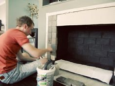 retiling your fireplace