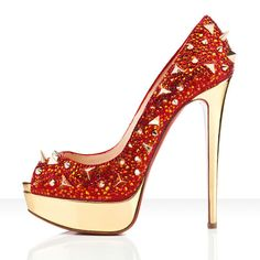 Christian Louboutin Very Mix 140mm Peep Toe Pumps Red