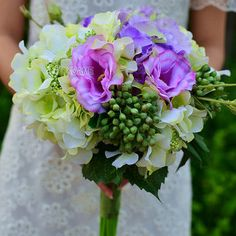 Seide Brautstrauß schöner wie Hand-gebunden