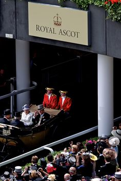 Queen Elizabeth and Prince Philip entering Royal Ascot. London. I had never seen this entrance before, interesting.