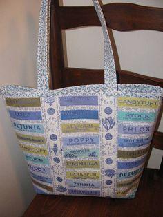 Vintage Look tote bag by SewLeighMyOwn, $30.00