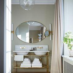 Ett Hem Bathroom with Double Sink - Bathroom Design Ideas. Discover bathroom design ideas on HOUSE - design, food and travel by House & Garden. Stockholm's Ett Hem Hotel offers a kind of modern glamour Interior Exterior, Bathroom Interior Design, Home Interior, Glamorous Bathroom, Beautiful Bathrooms, Tadelakt, Design Blog, Design Ideas, Design Art