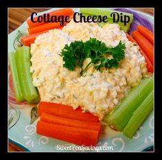 Cottage Cheese Dip! I LOVE cottage cheese!