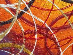 'Concentrico astratto' - Materico acrilico su tela. Volute e cerchi giocano intersecandosi in varie dimensioni e colori. Lo sfondo sfuma in diverse tonalità su uno strato di colore a base di malte. Decorazioni glitter e graniglie sono inserite nei dettagli. Per ambienti moderni. - alt: 112,50cm x larg: 82,50cm - Note: Quadri Moderni Geometrici