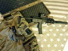 MP-7 (VFC) + FN FNX-45 (VFC) + Glock 34 (WE)