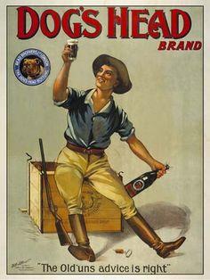 Dog's Head Brand   Vintage food & drink poster   Retro advert #Vintage #Posters #Affiches #Food #Drinks #Carteles #deFharo #Ads