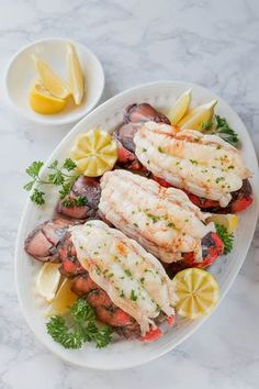 I can't believe how impressive it turns out, but so easy to prepare. Love this method for baked lobster tails. #lobstertails #bakedlobstertails