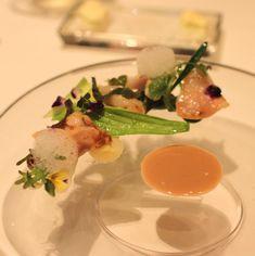 大粒蛤、蕗のソースとビネグレットのソース、ホタルイカのソース、うるい