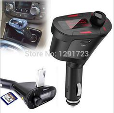 [Visit to Buy] 2017 Remote Control Red Light LCD Car  MP3 Player Wireless FM Transmitter Modulator With Support USB+ SD+MMC+Fuse+Car Audio #Advertisement