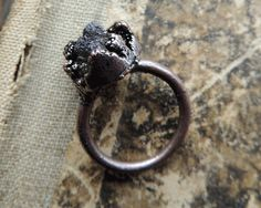 electroformed ring 9 size US electroformed jewelry raw by MARIAELA