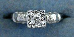 Antique Engagement Ring  $575