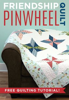 Love this Friendship Pinwheels Quilt from Missouri Star Quilt Co! Jenny Doan is such a great teacher... can't wait to make this one! FREE TUTORIAL!