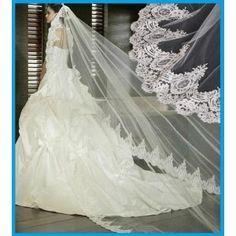 Velo largo 3 metros para novia. http://www.tienda-online.decoracionydetalle.com/77-124-thickbox/velo-de-novia-grat-love.jpg