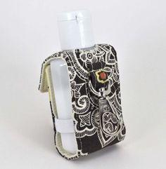 Keychain Hand Sanitizer Holder by RhyahPapaya on Etsy