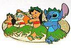 Disney Auctions Pin Lilo & Stitch Hula Class Hawaii Luau Lei Tribal RARE